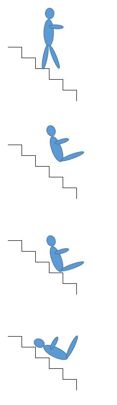 階段で転倒