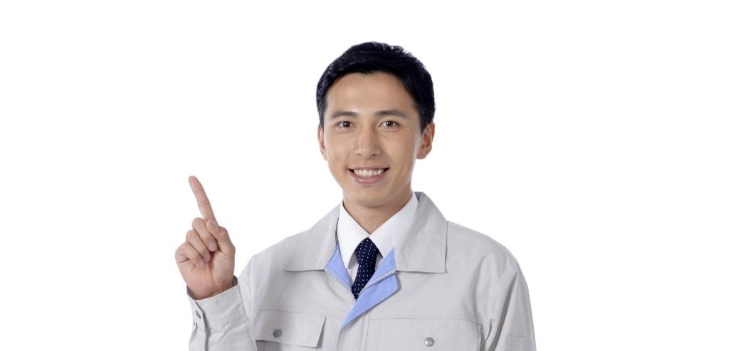 指さし男性(日本人)