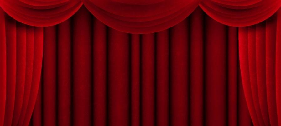 映画館のカーテン