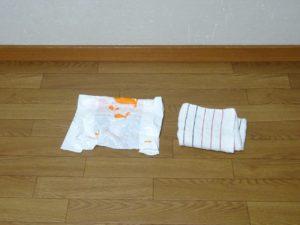 タオルとレジ袋